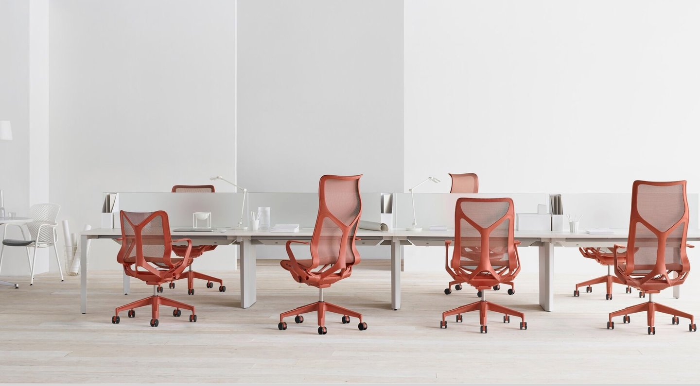 Cosm chairs at multiple desk