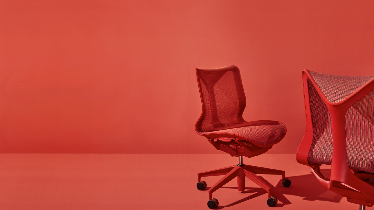 Video showing ergonomics of the Herman Miller cosm chair